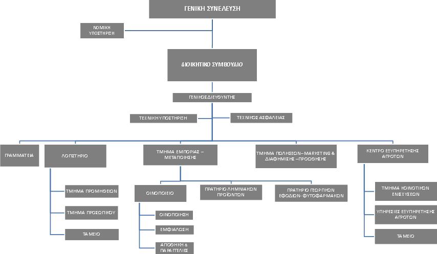Το οργανόγραμμα του Α. Σ. Η Ένωση